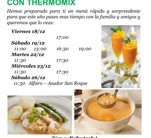 Taller ''Tu menú de navidad con Thermomix® '' en Logroño y Alfaro