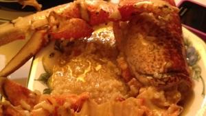 Para una comida elegante arroz con bogavante